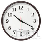 【九乘九購物網】12吋咖啡框靜音時鐘 TG-0320