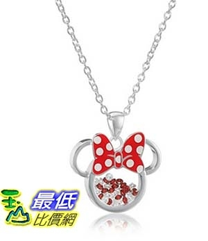 [美國直購] Disney Silver Plated Minnie Mouse Silhouette Shaker Pendant Necklace, 18 + 2 Extender 項鍊