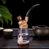 水煙壺全套玻璃水煙斗純銅老式水煙絲壺壺煙鍋水煙袋配件