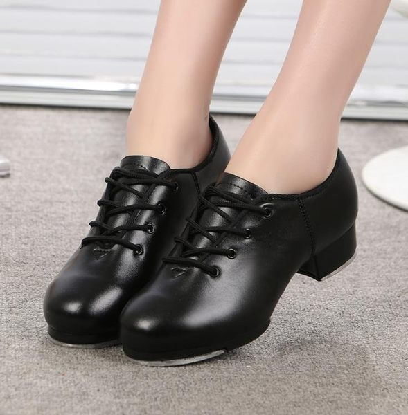 踢踏舞鞋 軟底 踢踏鞋舞鞋 男 女款 跳舞 兒童 少兒舞蹈成人 系帶