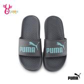 PUMA 成人男女款 防潑水拖鞋 運動拖鞋 情侶鞋 J9576#灰色◆OSOME奧森鞋業