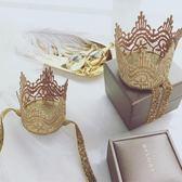 公主皇冠蕾絲立體發帶嬰兒頭飾tz4635【歐爸生活館】