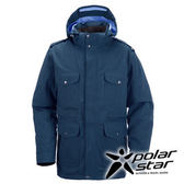 PolarStar 男 防水羽絨外套 │CNS 90/10羽絨 『藍綠』P15223 防風外套