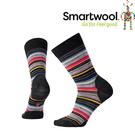 【SmartWool 美國 女款 瑪格麗特紋中長襪《炭黑條紋》】SW0SW717/排汗襪/保暖襪/抗臭襪