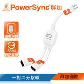 群加 PowerSync 2P 一對二抗搖擺分接線(TS2WB003)