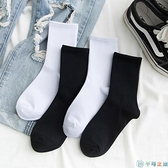 3/5雙裝 長筒襪透氣長襪子女中筒襪潮純棉薄款【千尋之旅】