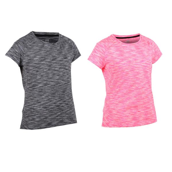 FIRESTAR 女彈性短袖圓領T恤(慢跑 路跑≡體院≡ DL964