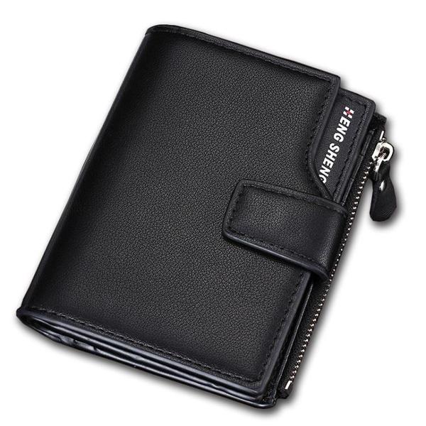 三折錢包男短款豎款正韓青年學生個性錢夾多功能大容量軟皮夾卡包【快速出貨】