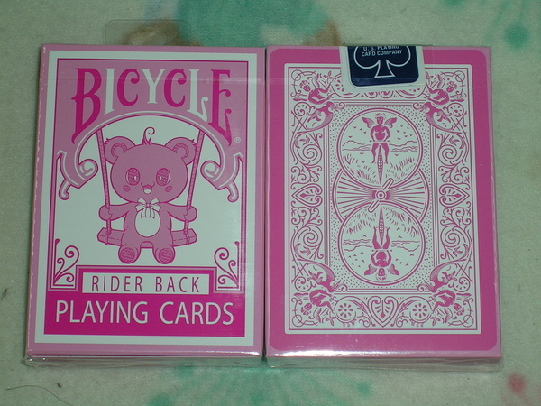 【USPCC撲克】Bicycle bear Pink deck