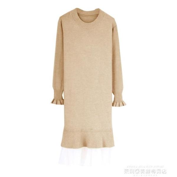 孕婦秋裝時尚款潮辣媽個性春秋款網紅洋氣減齡秋季孕婦連身裙 萊俐亞