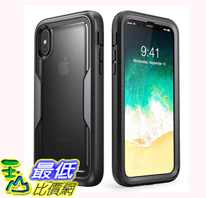 [106美國直購] 手機保護殼 i-Blason iPhone X Case Heavy Duty Protection Clear Back Magma Series Shock Reduction