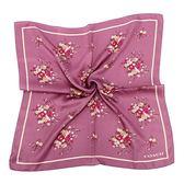 COACH花卉圖騰方形絲巾領巾(紫色)190954