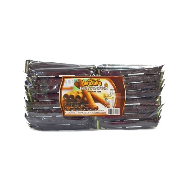 Wasuka爆漿特級巧克力威化捲 600g【4713648831146】(印尼零食)
