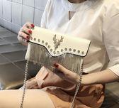 女性手拿包 小包包女新款流蘇手包韓版個性時尚百搭 珍妮寶貝