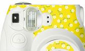 FUJIFILM instax mini 7s 拍立得專用 機身貼紙 裝飾貼紙 小白花 黃底