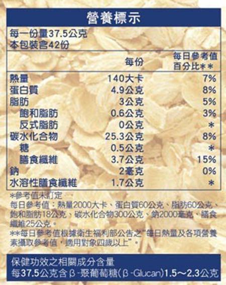 【 現貨 】桂格即食大燕麥片隨身包 37.5公克 X 42包