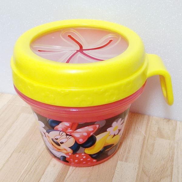 美國 Disney 防漏零食杯 餅乾盒 (米妮)-超級BABY☆