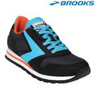 【BROOKS】美國進口Chariot Heritage 女款經典復古慢跑鞋 - 黑藍