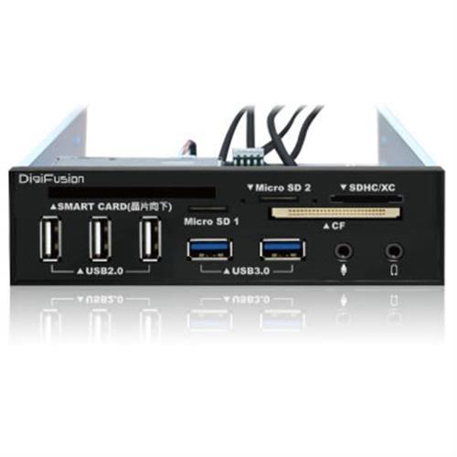 伽利略 5.25吋多介面內建式讀卡機 (ATM讀卡機/USB 2.0+3.0 HUB/AUDIO)
