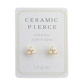 [現貨] itam 日本製 珍珠花陶瓷耳針 (CP283)