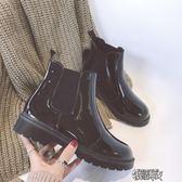 圓頭馬丁靴短靴女秋冬季厚底短筒單靴平底切爾西靴機車靴子潮【街頭布衣】