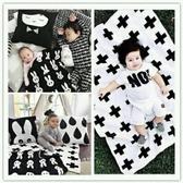 嬰兒毛毯秋冬法蘭絨蓋毯雙面珊瑚絨新生兒寶寶小毯子辦公室午睡毯