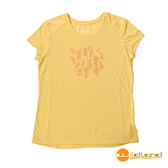 wildland荒野 女 RE印花棉感功能上衣『檸檬黃』0A51691 台灣製造 排汗透氣圓領T恤 T-shirt 運動服