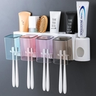 牙刷架 牙刷架置物架免打孔漱口杯刷牙杯掛壁式衛生間牙缸牙具套裝【快速出貨八折下殺】
