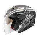 【東門城】ZEUS ZS611E TT25(消光黑銀) 半罩式安全帽 雙鏡片