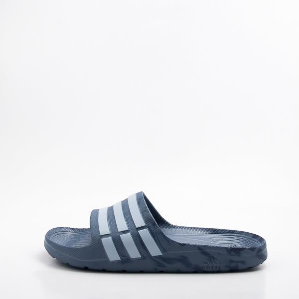 ADIDAS 運動拖鞋-迷彩藍 大尺碼 CQ0136