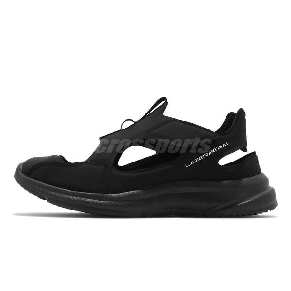 Asics 涼鞋 Lazerbeam XA 大童 全黑 魔鬼氈 快乾止滑 護指鞋 【ACS】 1154A041001