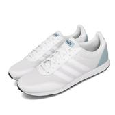 【海外限定】 adidas 休閒鞋 V Racer 2.0 白 藍 男鞋 運動鞋 【PUMP306】 F34448