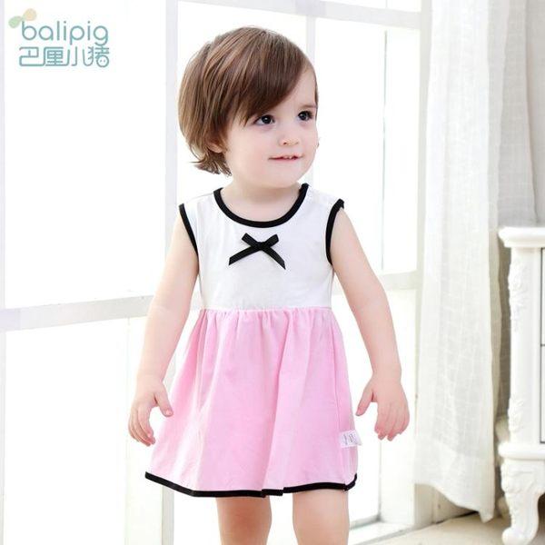 洋裝連身裙嬰兒裙子女童無袖兒童連衣裙0-1歲2新生兒衣服夏季寶寶公主裙三角衣櫥