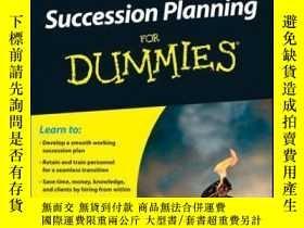 二手書博民逛書店Business罕見Succession Planning For DummiesY410016 Arnold
