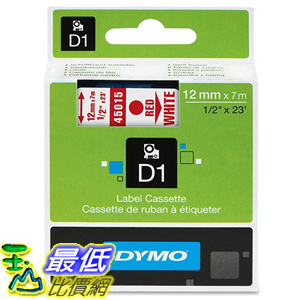 [美國直購] DYMO 45015 Standard D1 Self-Adhesive Polyester Tape for Label Makers 1/2 inch x 23 標籤紙