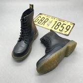 馬丁靴女英倫風新款靴子靴系帶短靴春夏平底靴騎士靴圓頭高幫靴