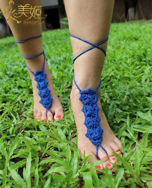 衣美姬♥南洋風新娘腳花 腳上飾品 編織圖騰腳鍊 度假 海灘腳飾