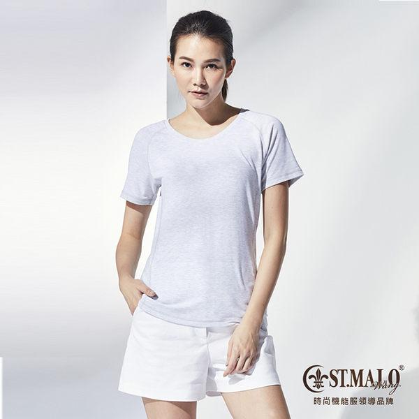 【ST.MALO】MIT 輕漾吸排爬線女上衣-1781WT-淺麻色