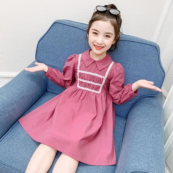 女童洋裝2020新款秋季小女孩裙子兒童網紅洋氣公主裙春秋裝長袖 Cocoa