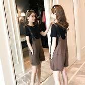 孕婦夏裝套裝時尚款新款寬鬆孕婦背帶褲子夏季薄款外穿潮