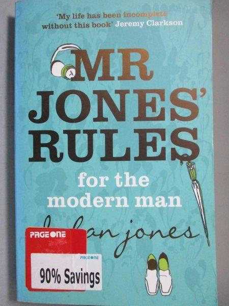 【書寶二手書T3/原文書_NPD】Mr.Jones Rules for the Modern Man._Dylan J