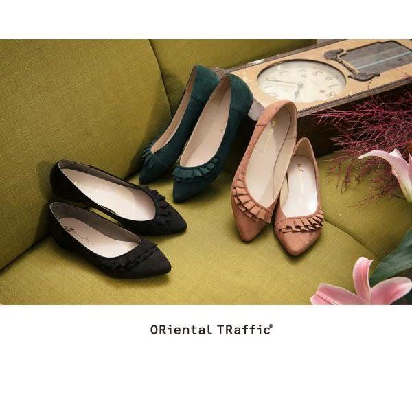 【ORiental TRaffic】斜口波浪造型包鞋-時髦綠