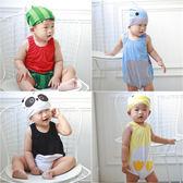 Augelute Baby 無袖造型包屁衣附帽子 60296