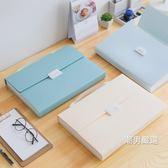 一件免運-文件夾A4文件袋手提小清新文件夾多層學生用試卷夾文件收納袋5色