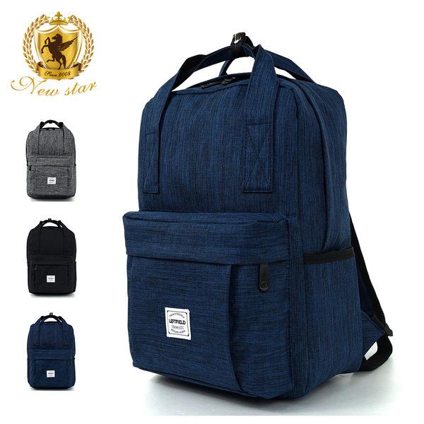 後背包 日系簡約防水口袋提把男包女包後背包包 NEW STAR BK223