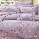 DOKOMO朵可•茉《朵都-紫》100%純天絲頂級60支-雙人特大(6*7尺)四件式兩用被床包組