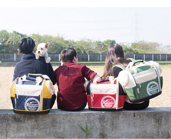 Daisuki CS02雙露頭後背寵物袋(L)CS02-LDB-藍黃(L)