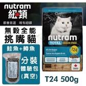 *WANG*紐頓 無穀全能-貓糧T24鮭魚配方500g/包【分裝體驗包(真空包)】附發票