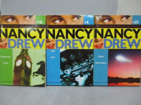 【書寶二手書T4/語言學習_NQO】Nancy Drew_4+16+21冊_共3本合售_High Risk等