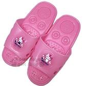 〔小禮堂〕Hello Kitty 矽膠簍空浴室拖鞋《亮粉.物品》陽台拖.室內拖_713909-23457